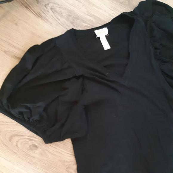 Diesel | balloon sleeve black tee